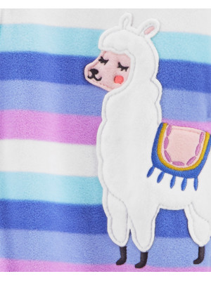 Carter's fleece cipzáros pizsama láma