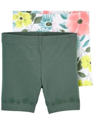Carter's 2 darabos virágmintás rövid nadrág szett