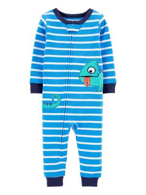 Carter's Kameleon mintás pizsama cipzárral -kék