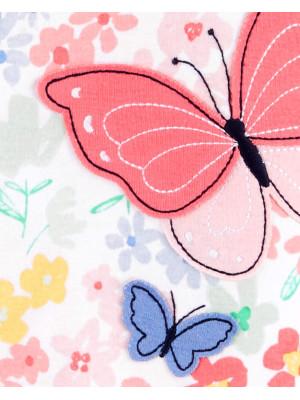 Carter's Pillangó mintás pizsama cipzárral