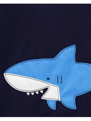 Carter's 3 darabos cápa mintás pizsama szett