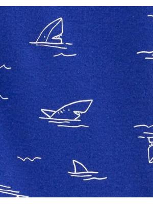 Carter's cipzáros pizsama cápás