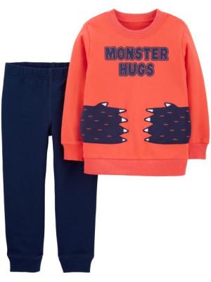 Carter's 2 darabból álló szett mancsos pulóver & hosszú nadrág