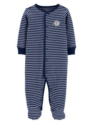 Carter's Elefánt mintás pizsama, 100% organikus pamut