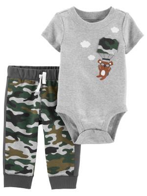 Carter's 2 db-os katona mintás nadrág & body szett