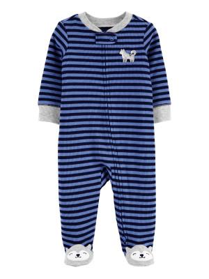Carter's megforditható cipzáros pizsama farkas mintás