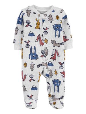 Carter's megforditható cipzáros pizsama állatkákkal