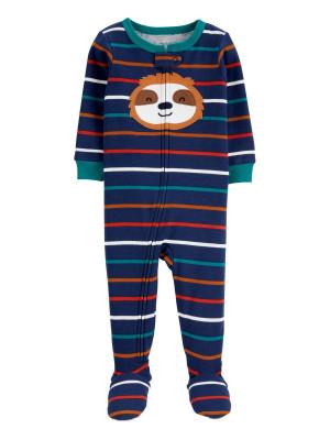 Carter's cipzáros pizsama lajhár mintás