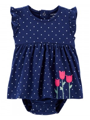 Carter's Tulipánmintás ruha tipusú body
