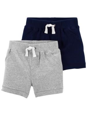 Carter's 2 darabos szürke/sötétkék rövid nadrág szett