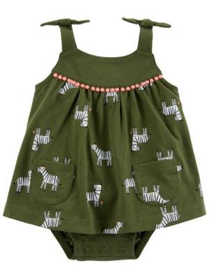 Carter's Body tipusú ruha zebrás mintás