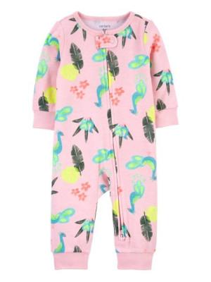 Carter's megfordítható cipzáros pizsama páva mintás