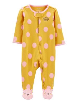Carter's megfordítható cipzáros pizsama maci mintás