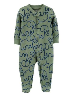 Carter's megforditható elefánt mintás cipzáros pizsama
