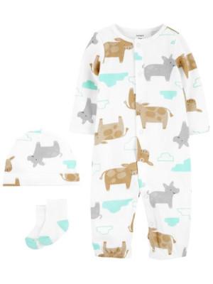 Carter's 3 darabos pizsama sapka és zokni szett