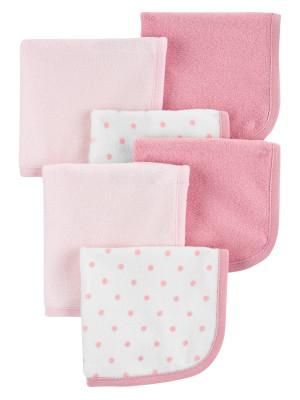 Carter's 6 darabos törülköző szett rózsaszín