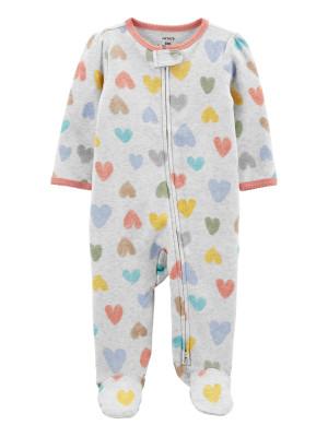 Carter's megforditható cipzáros pizsama szivecskés