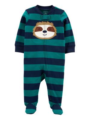 Carter's megforditható cipzáros pizsama lajhár