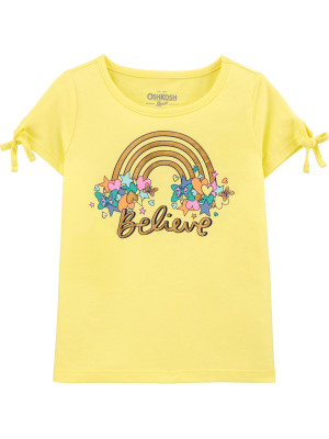 Oshkosh Szivárványos sárga póló