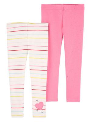 Carter's szett 2 darabos csikos hosszú nadrág és rozsaszin csillogó szikrákkal