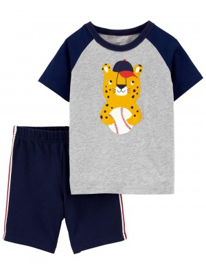 Carter's 2 részes Leopárd trikó és rövid nadrág szett