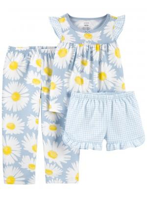 Carter's 3 részes Százszorszép mintás pizsama szett