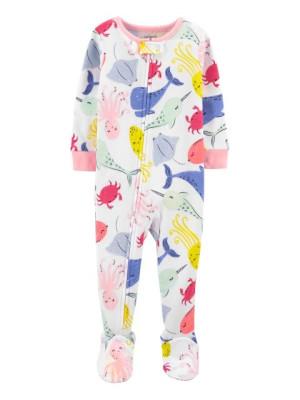 Carter's Bálna mintás cipzáros pizsama