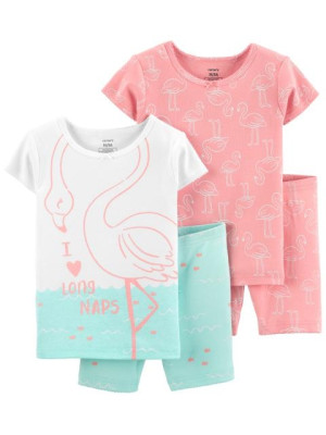 Carter's 2 darabos flamingó pizsama szett