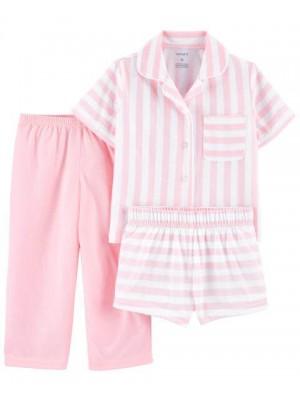 Carter's 3 darabos csikós pizsama szett