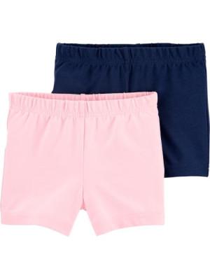 Carter's 2 darabos rövid nadrág rózsaszín és sötétkék szett