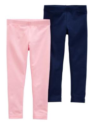 Carter's 2 darabos leggins rózsaszín és sötétkék szett