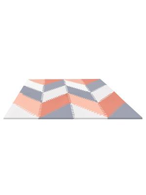 Skip Hop puzzle játszószönyeg - geometrikus playspot Szürke/Rózsaszín