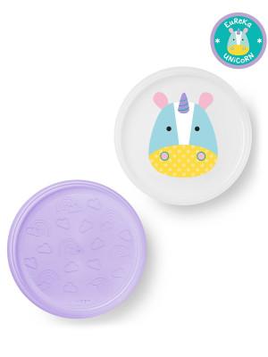 Skip Hop Zoo csúszásgátló tányér szett - Unikornis