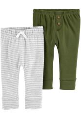 Carter's Szett 2 db-os zöld/szürke nadrág