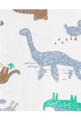 Carter's Dinoszaurusz mintás baba pizsama megforditható cipzárral