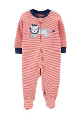 Carter's Oroszlán mintás pizsama megforditható cipzárral