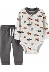 Carter's 2 db-os Hód mintás baba nadrág és body szett