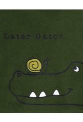 Carter's 3 részes Aligátor mintás blúz, body és nadrág szett
