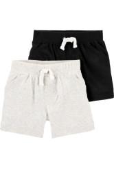 Carter's 2 darabos fekete/szürke rövid nadrág szett
