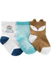 Carter's 3 darabos zokni szett rókás