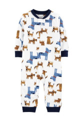Carter's fleece kutya mintás pizsama