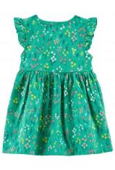 Carter's Zöld virágmintás ruha