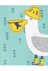 Carter's cipzáros pizsama pelikán
