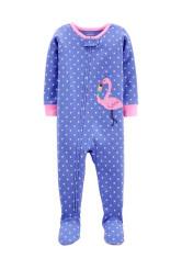 Carter's cipzáros pizsama flamingó