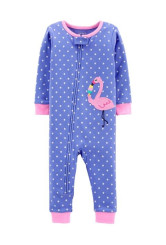 Carter's cipzáros pizsama flamingó mintás