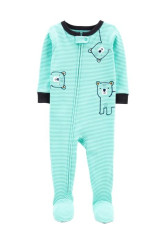 Carter's cipzáros pizsama maci mintás