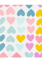 Carter's Szívmintás pizsama cipzárral