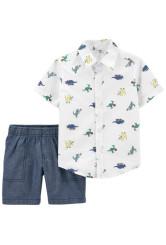 Carter's 2 darabos dinos ing és rövid nadrág szett