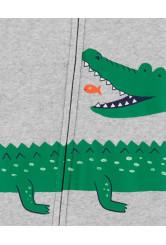 Carter's Aligátoros cipzáros pizsama