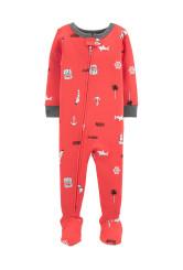 Carter's Horgony mintás pizsama cipzárral